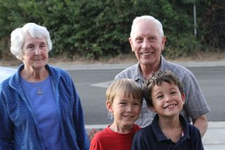 Riley Wills and Grandparents