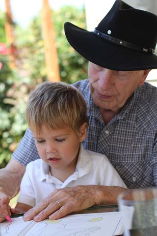 Chase and Grandpa Coloring