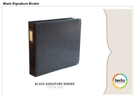 Black Signature Binder